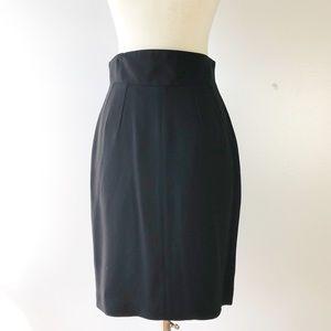 4e5840219c Escada Skirts | Blue And Black Wool Pencil Skirt | Poshmark